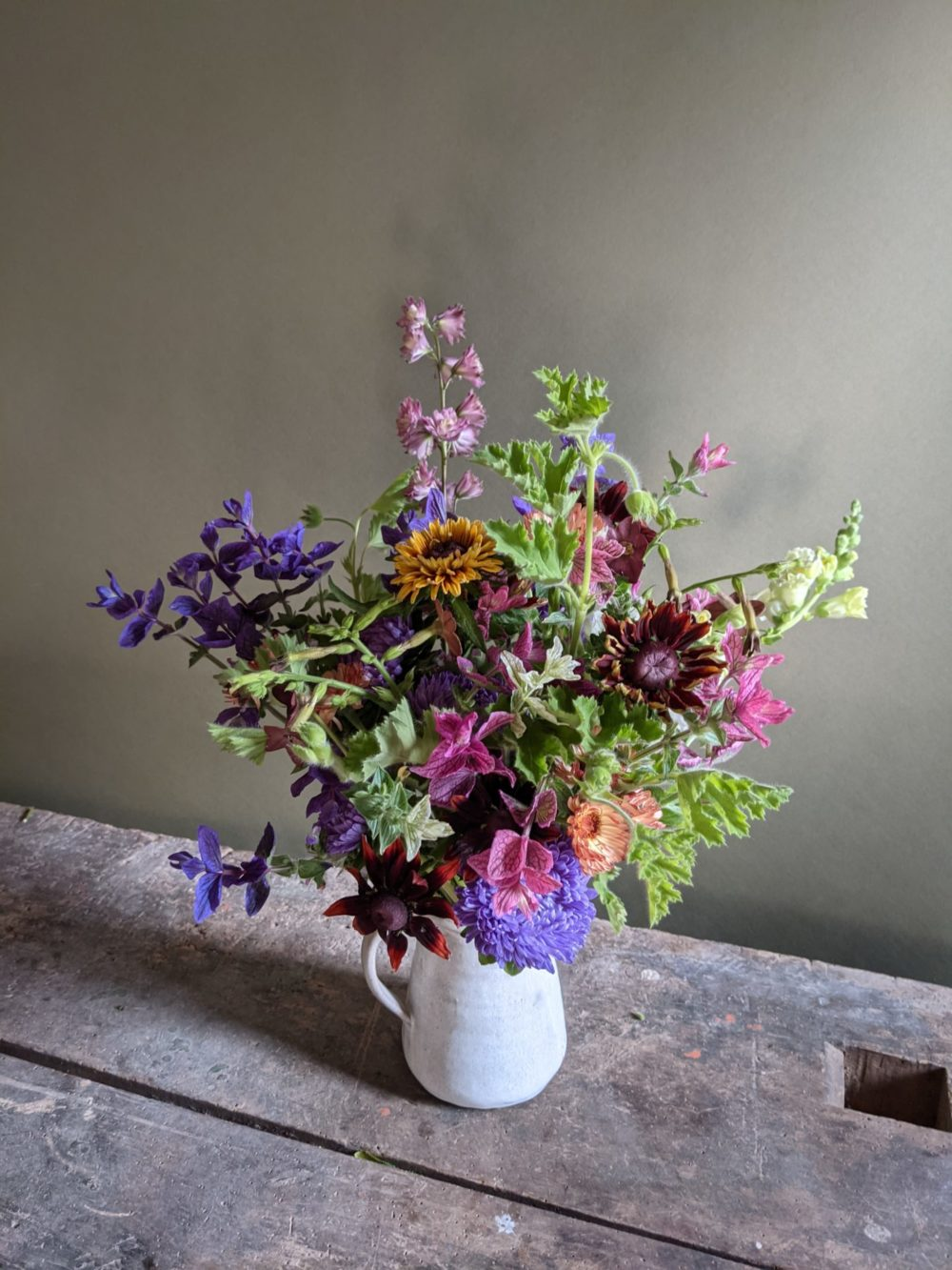 Our farm bouquets, with all homegrown flowers